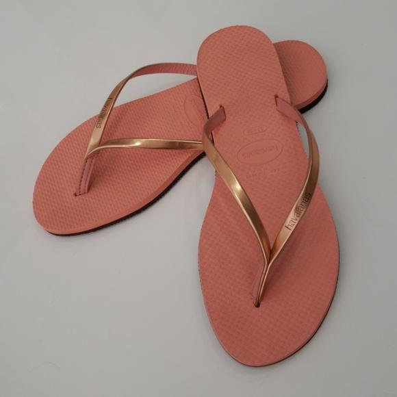 1b515b128 Havaianas Shoes - Havaianas You Metallic Flip Flop Rose Gold 7 8